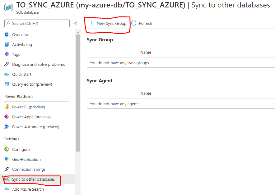 create sync group