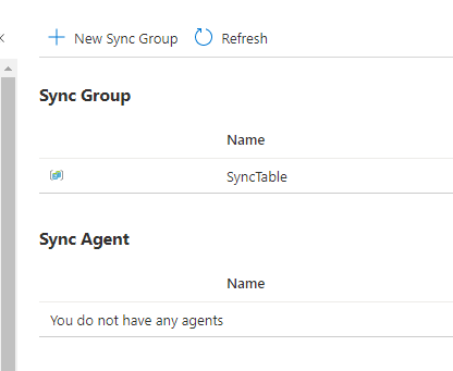 new sync group